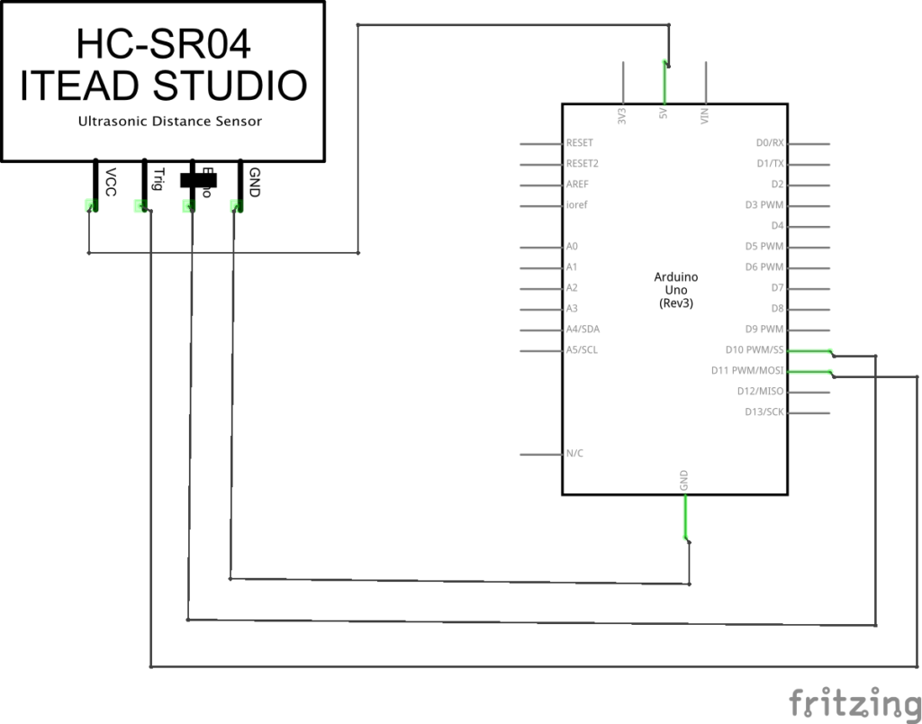 Detecting A Full Garbage Bin Using An Ultrasonic Distance Sensor Circuit If You Are Still Confused About The Exact Setup Or Your Board Is Configured In Slightly Different Way Feel Free To Refer This Schematic For