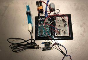 Using a pH sensor to light up a RGB LED and power a DC motor
